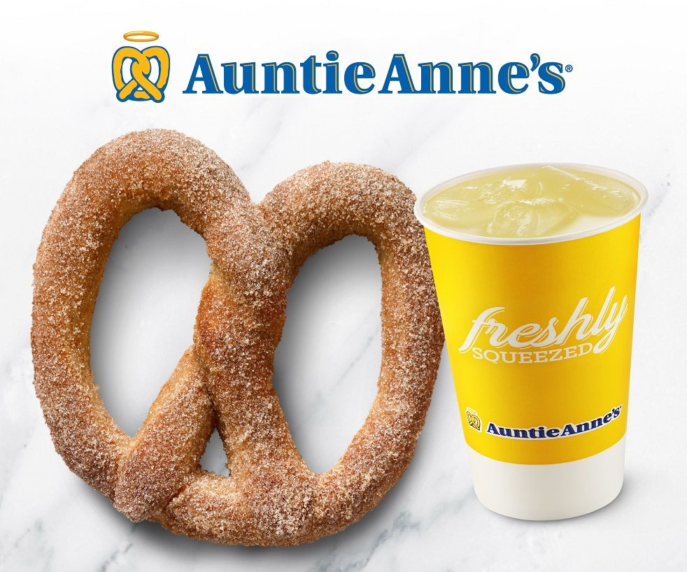 40% off when you add a fresh lemonade or passion fruit to ANY pretzel order!