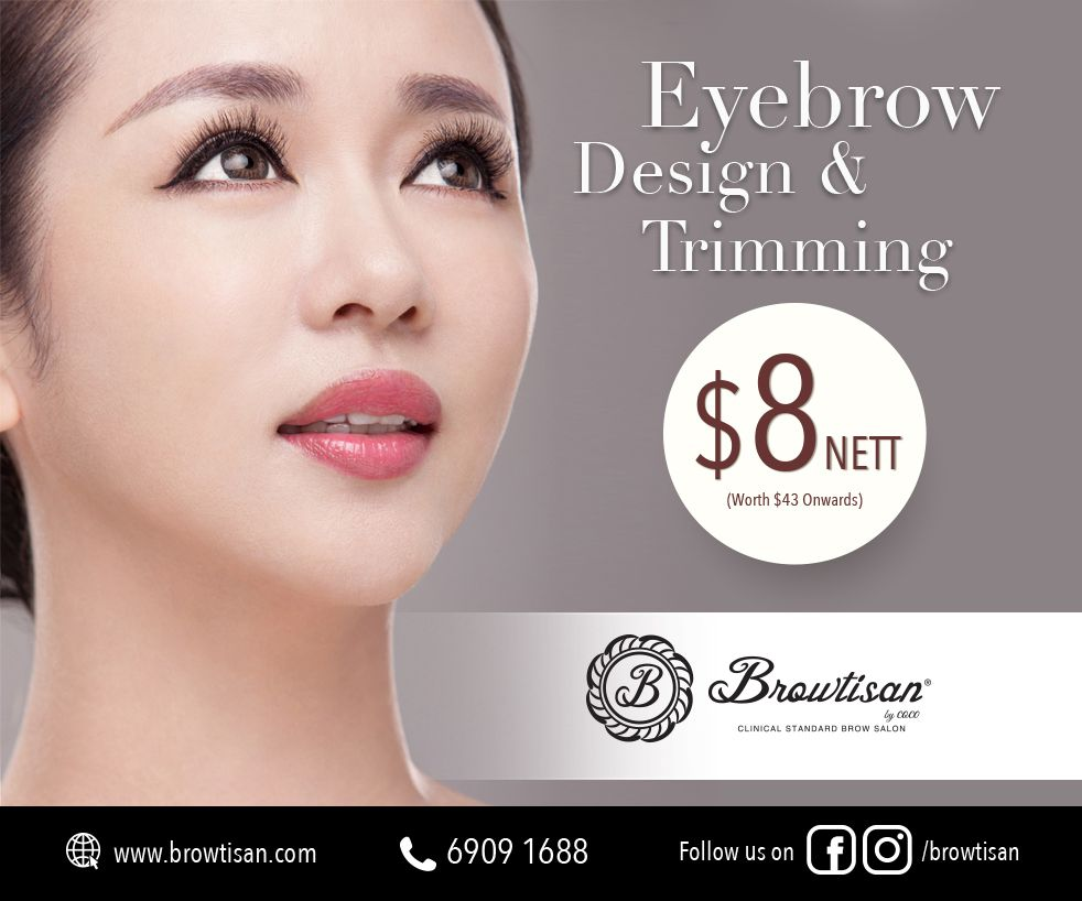 EXCLUSIVE OFFER: $8 EYEBROW DESIGN & TRIMMING