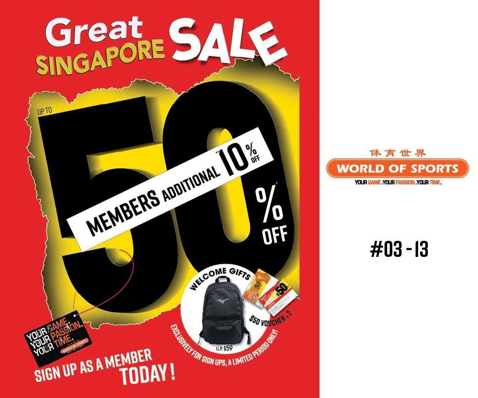 World Of Sports Great Singapore Sales!