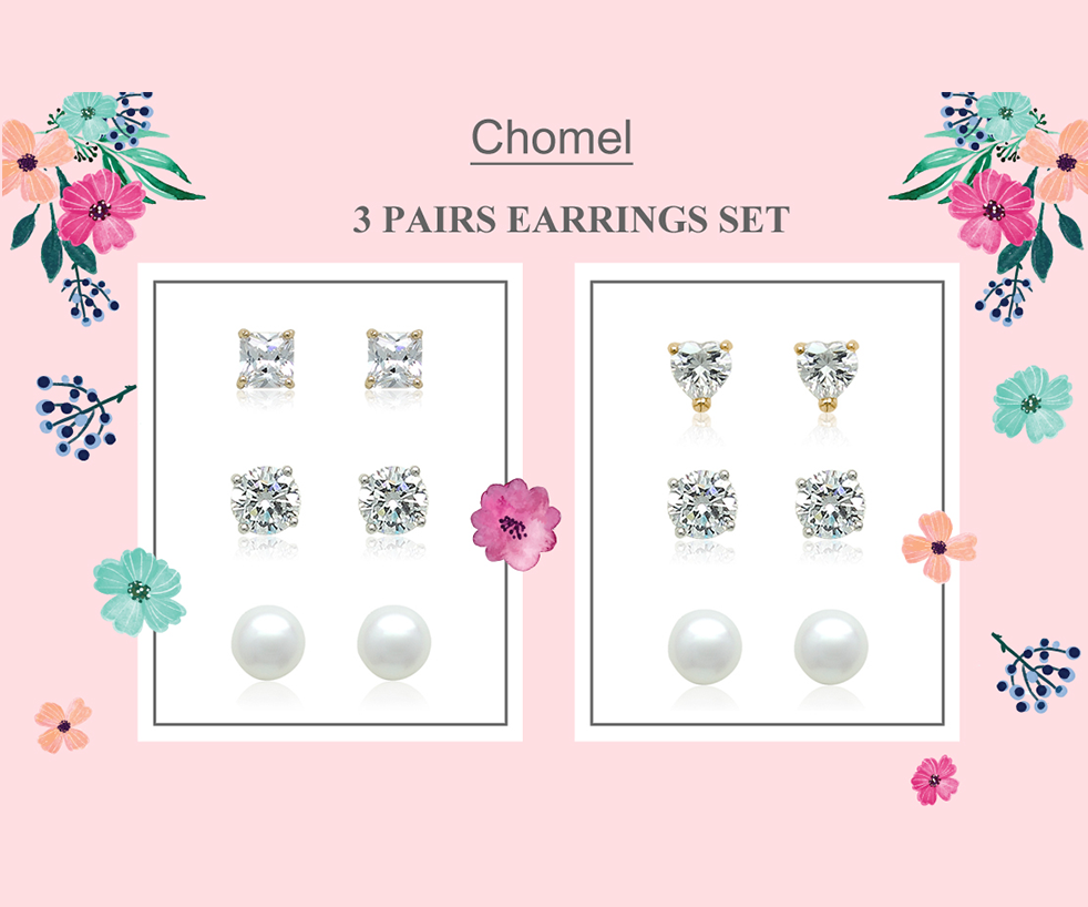 3 Pairs Earrings Set at $29 (U.P. $61)