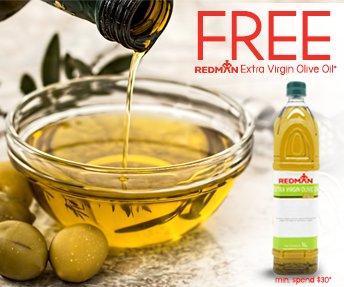 Free REDMAN Extra Virgin Olive Oil (1L) with $30 spent