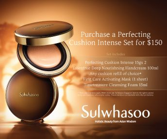 Sulwhasoo Perfecting Cushion Intense Set for $150 (Worth $226)