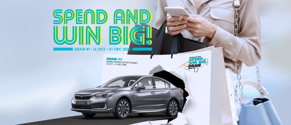 CapitaLand consumer giveaway in Singapore with over S0,000 worth of prizes till 31 Dec 2020