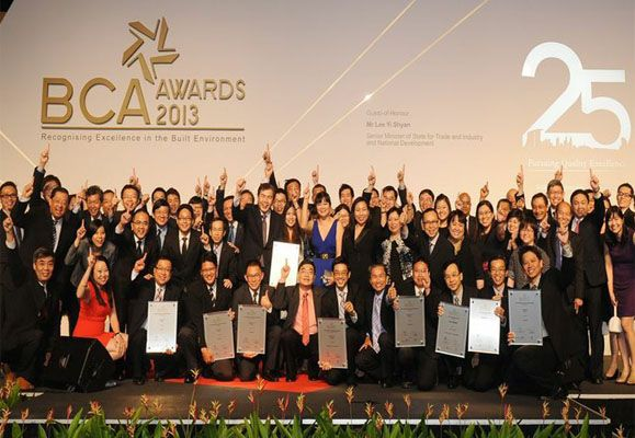CapitaLand staff at the Building and Construction Authority Singapore Awards (BCA Awards) 2013