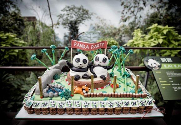 A pandastic party that was filled with special treats for Kai Kai, Jia Jia, and everyone
