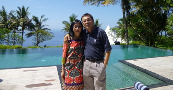 Mr Chan and his wife, Serene whom he met while studying in France, have been married for 32 years