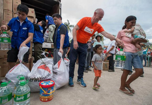 The Ascott Limited and CapitaLand Hope Foundation has been supporting World Vision's Typhoon Yolanda Relief Response, providing victims with much-needed items like clean water