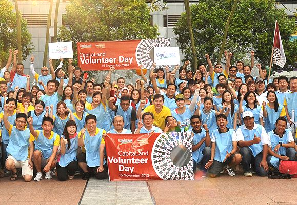 CapitaLand staff were all raring to embark on a meaningful day of volunteer work ahead in the first group-wide CapitaLand Volunteer Day