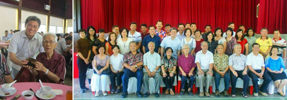 Recently, Mr Tan co-organised a gathering at his primary school, some 40 years after graduation, where he met up with the school's principal, teachers and his former classmates