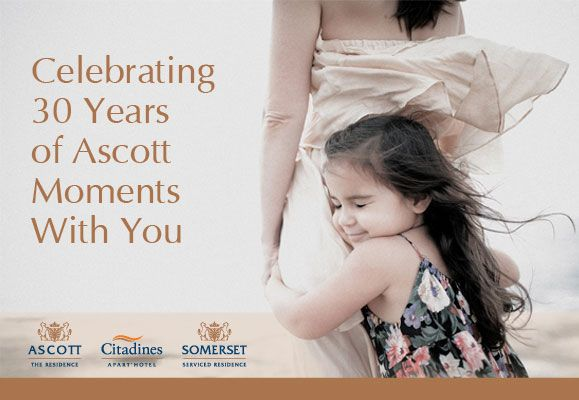 From 1 April to 31 December 2014, join the world's largest serviced residence owner-operator in celebrating 30 years of Ascott Moments and enjoy special rates and promotions
