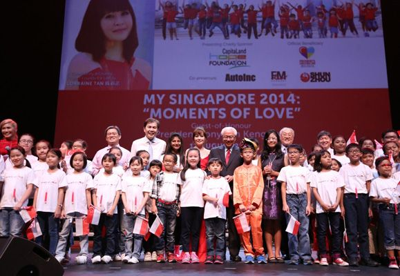 My Singapore 2014 concert featured many moments of love