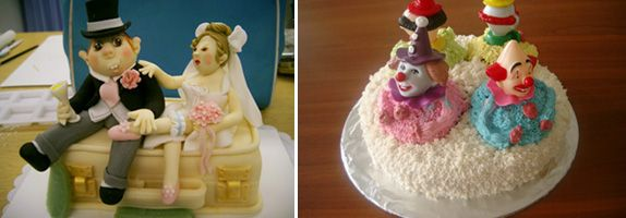 Some of Ms Leong's marvelous creations; She learnt the fine art of cake decoration from the Wilton School of Cake Decorating and Confectionery Arts in the US