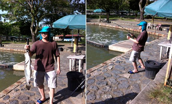 Fishing and badminton are other ways Mr Ng spends time with his sons, two of whom are studying abroad
