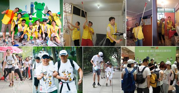 CapitaLand Volunteer Day 2014 in Singapore and China; In 2014 CapitaLand staff committed more than 25,000 volunteer hours
