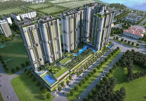Four impressive 35-storey towers set in lush greenery offering spectacular views make up Vista Verde.