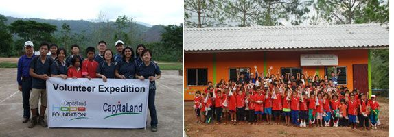 Mr Lim with his colleagues spent five days in the mountainous Bo Kleau of northern Thailand to help complete a school dormitory sponsored by CHF
