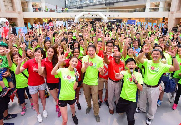 The Carnival at Raffles City Singapore was the finale of the CapitaLand #100KHopeHours Challenge