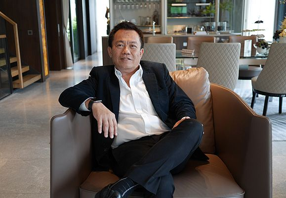 Mr Colin Wong at CapitaLand's latest residential offering - Victoria Park Villas, a luxurious landed development in the Good Class Bungalow Area in Singapore's coveted District 10.