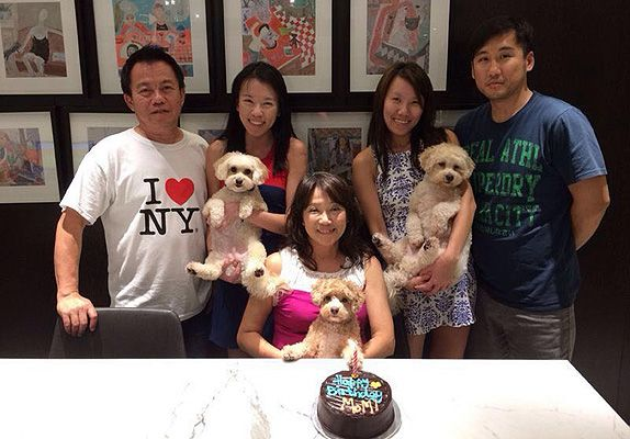 A family of dog lovers, the Wongs make sure their furkids are never left out of family celebrations.