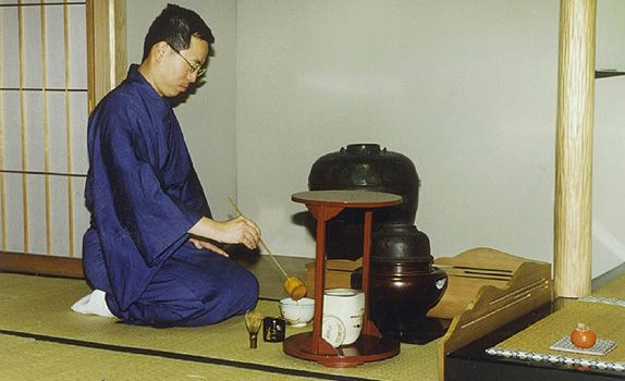 Mr Tan in his younger days, taking part in a traditional Japanese tea ceremony. The beauty of the land and its rich culture drew him back to Japan after his university education.