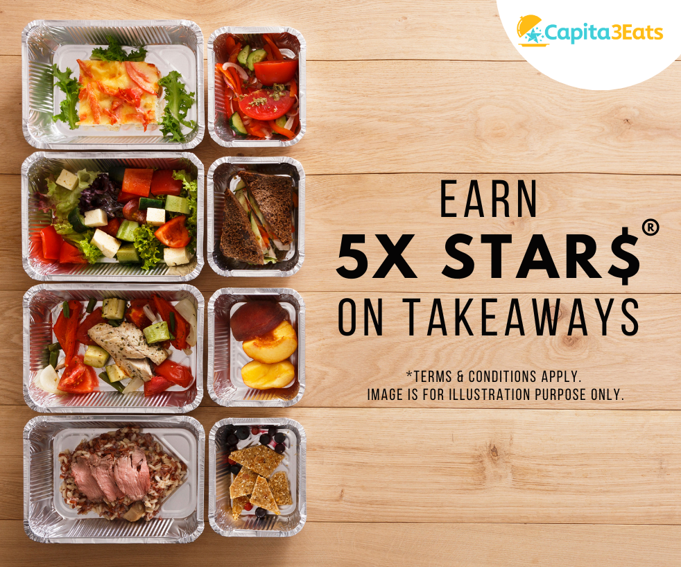 5X STAR$ for takeaway order