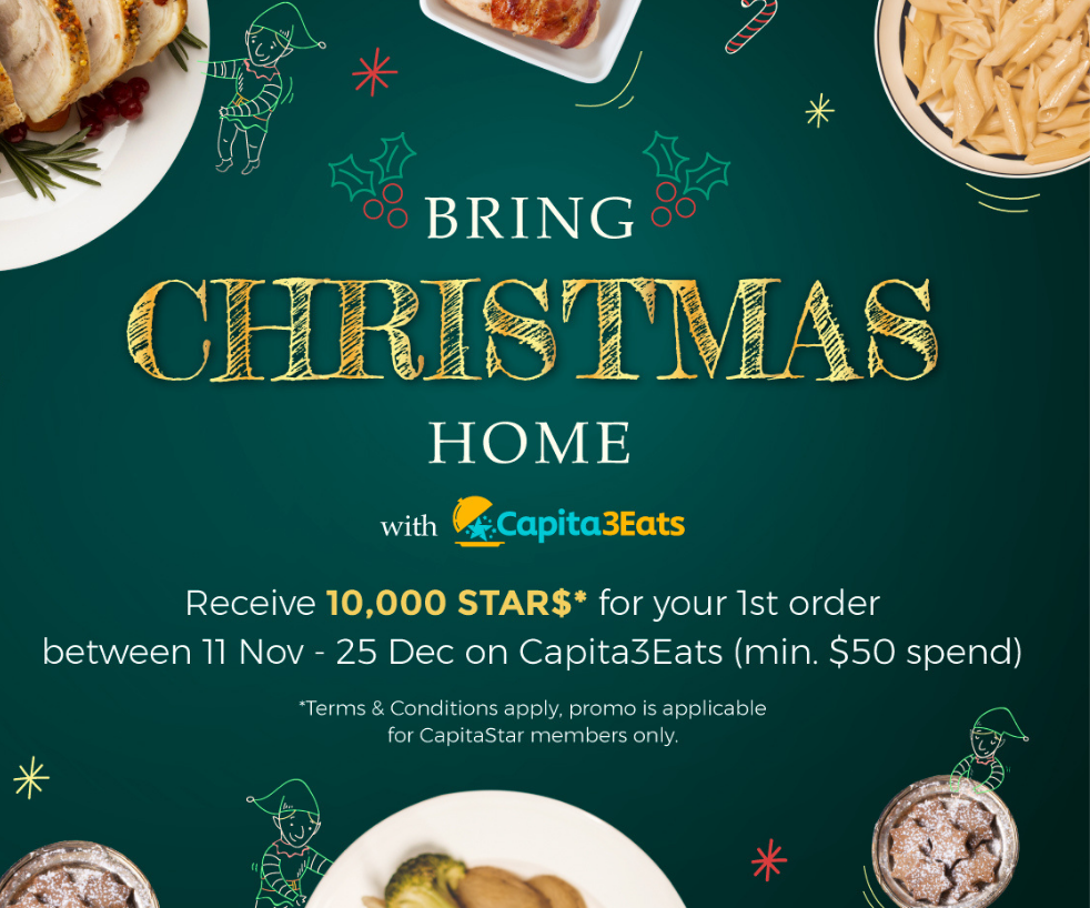 Bring Christmas Home with Capita3Eats