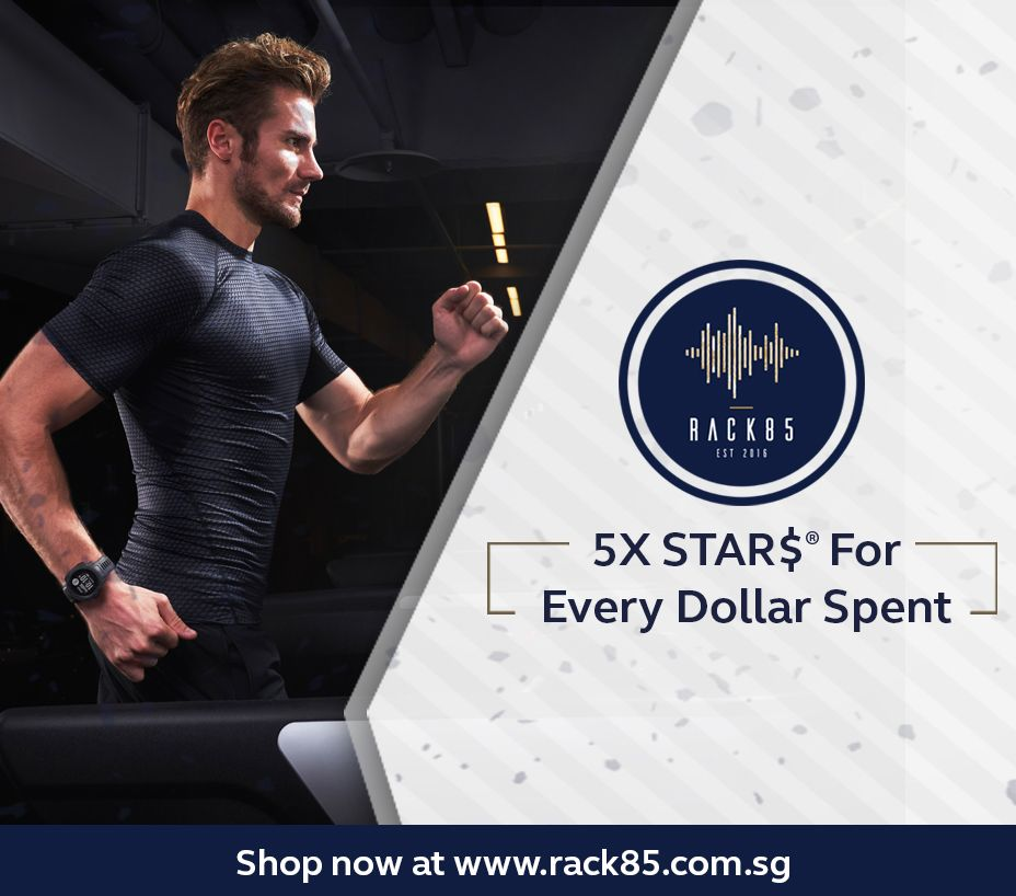 Earn 5X STAR$® per $1 at Rack85