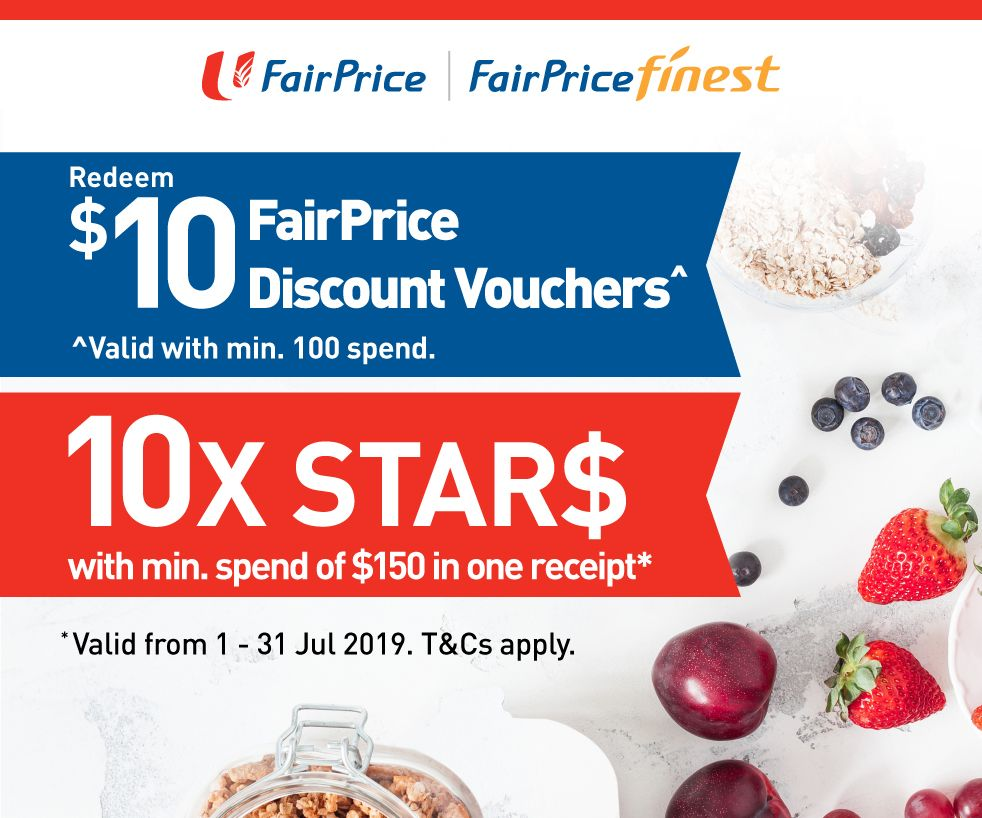 10X or 5X STAR$ at Fairprice Finest