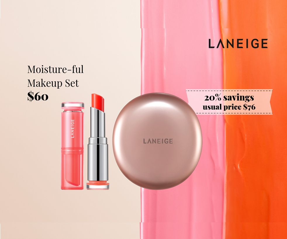 Layering Cover Cushion and Stained Glow Lip Balm at $60 (U.P. $76)