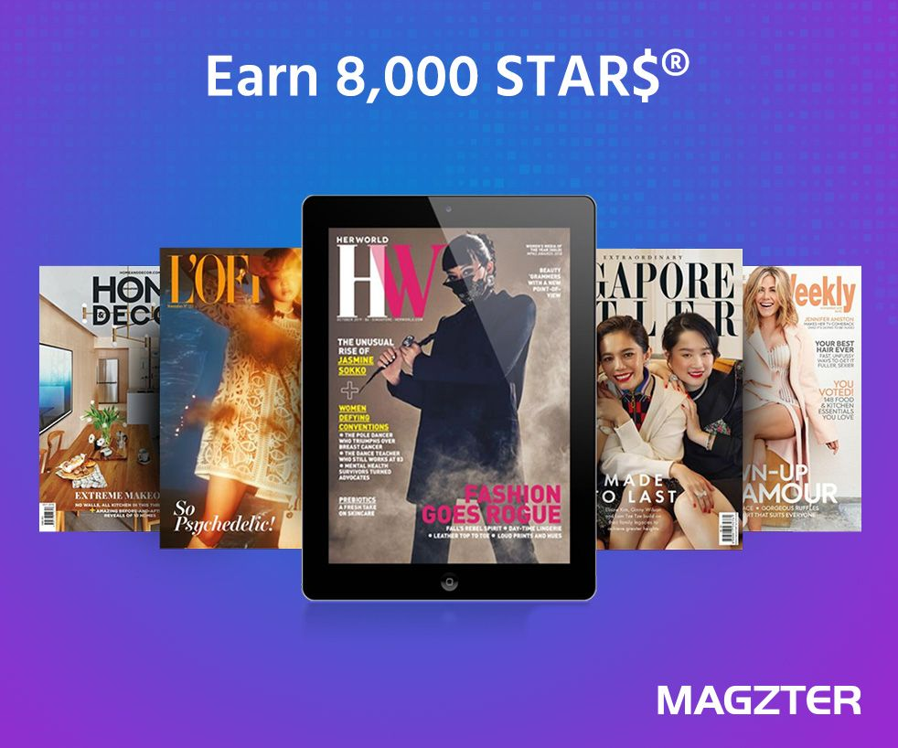Go Unlimited and Earn 8,000 STAR$ with Magzter