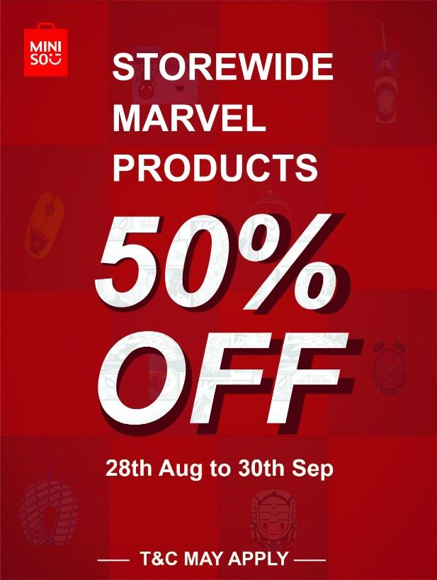 Storewide discount at Miniso