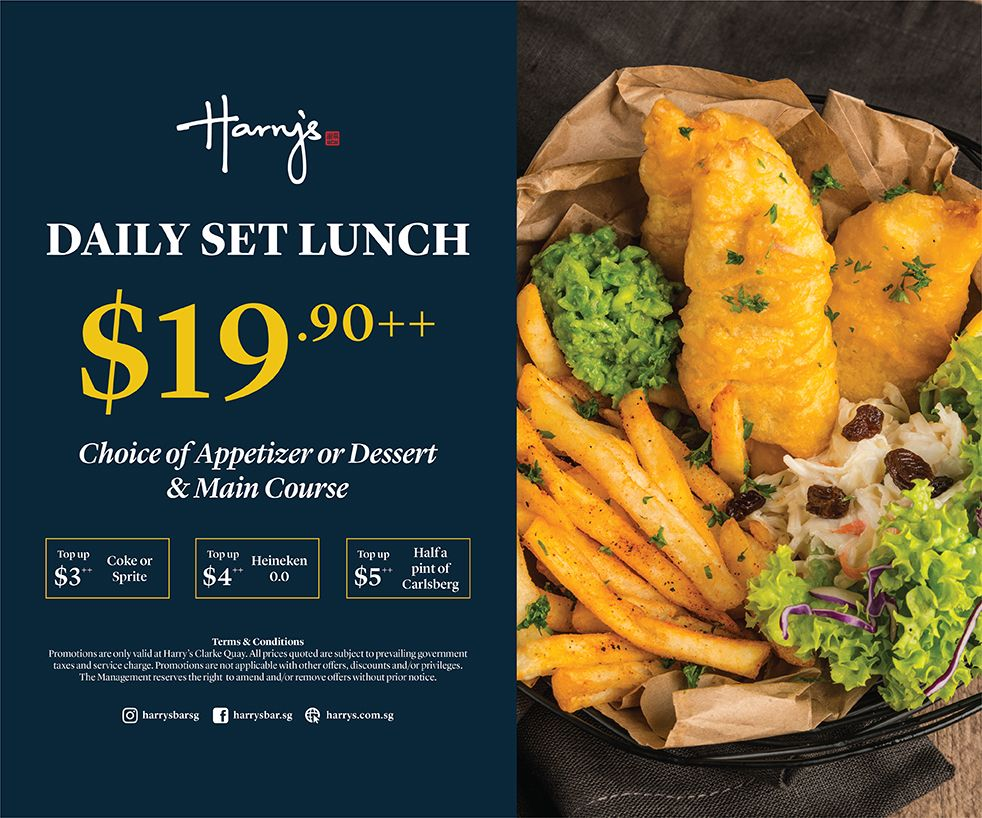 Daily Set Lunch at only $19.90++