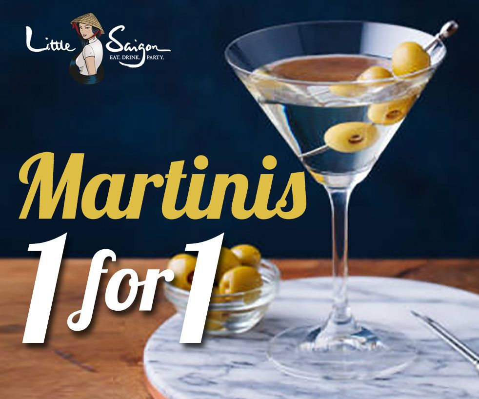 1-For-1 Deals for Selected Martinis