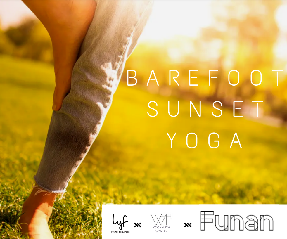 Barefoot Sunset Yoga at Funan Rooftop