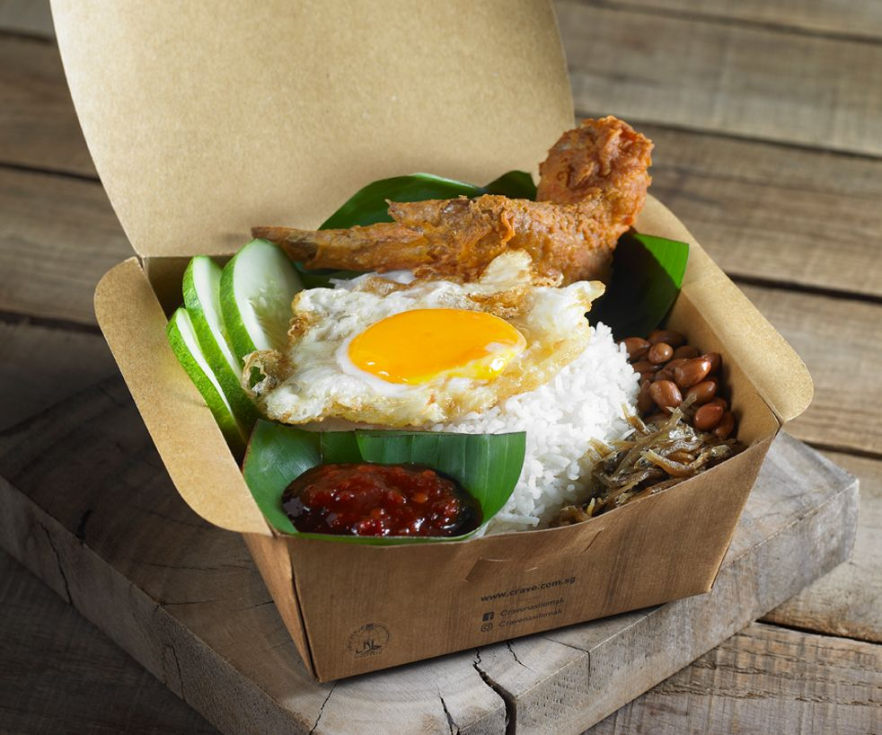CRAVE Nasi Lemak is offering 1-for-1 with Chicken Wing deal till 14 Oct 2020