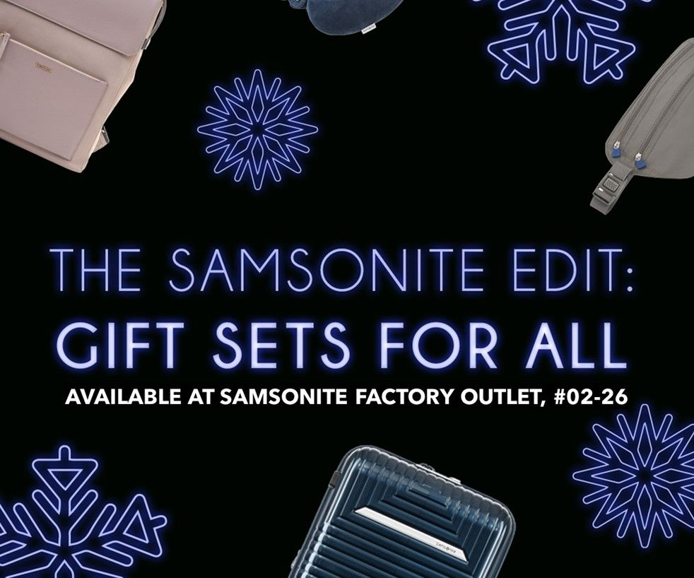 Festive Gifting at Samsonite Factory Outlet