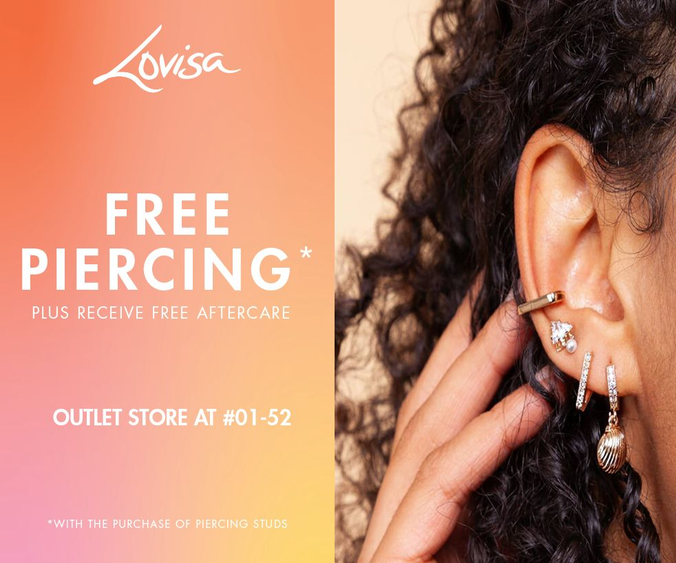 Free piercing at Lovisa Outlet