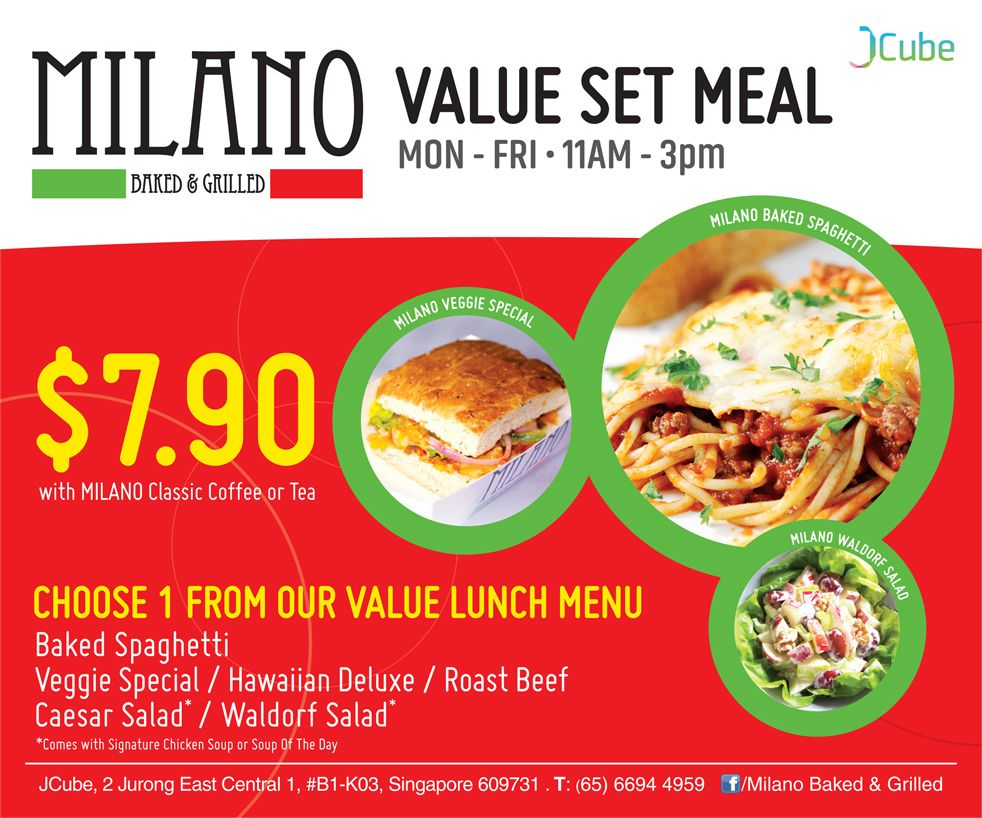 Milano Baked & Grilled Value Set Meal