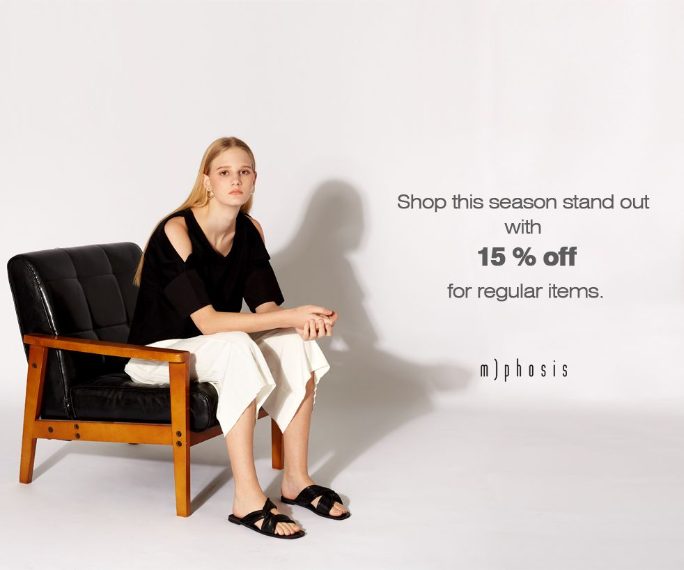 15% off Regular Items + 30% off Selected Items
