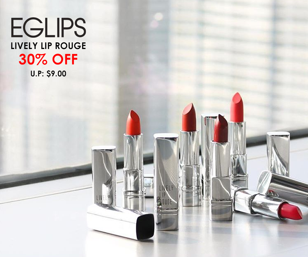 30% off Eglips Lively Lip Rouge