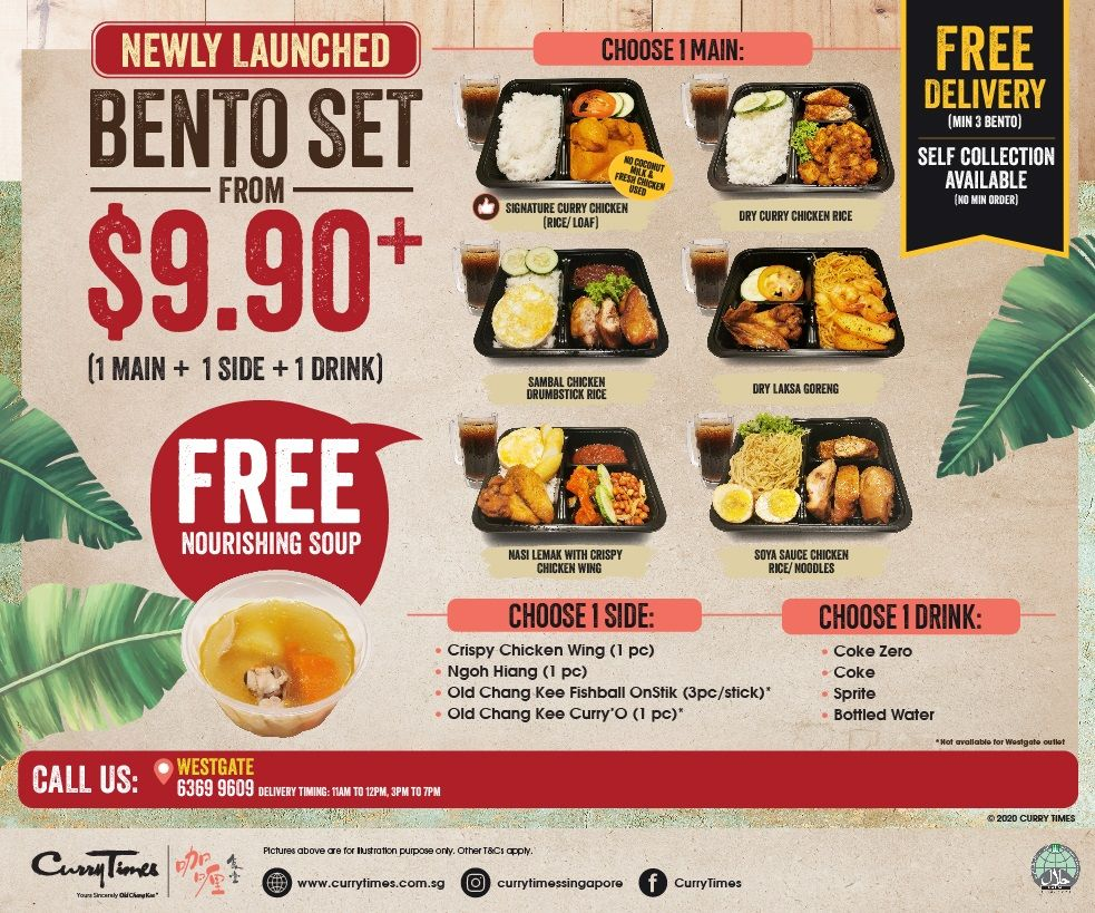 Bento Sets for Takeaway at $9.90+